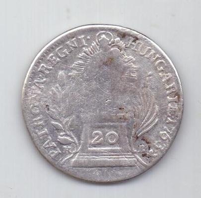 20 крейцеров 1763 г. Венгрия. Австрия
