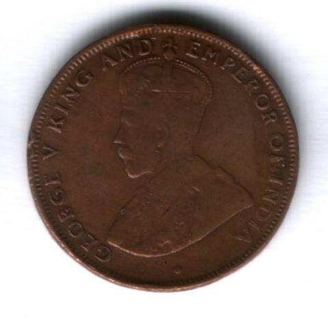 1 цент 1934 г. Гонконг
