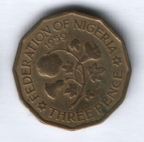 3 пенса 1959 г. Нигерия