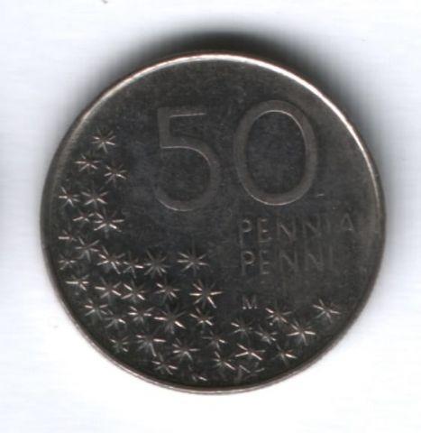 50 пенни 1990 г. Финляндия