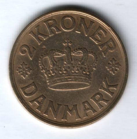 2 кроны 1926 г. VF Дания