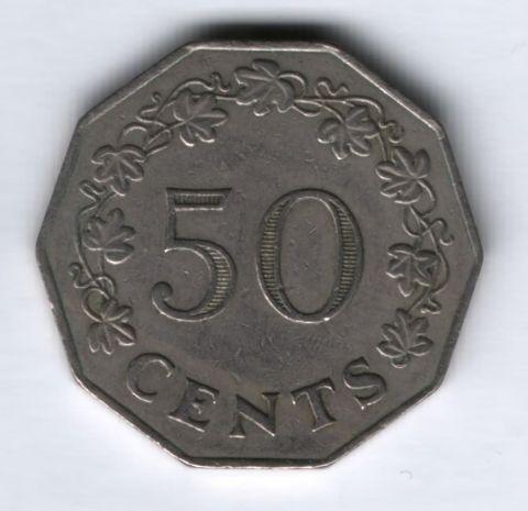 50 центов 1972 г. Мальта