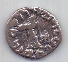 драхма  80-60 гг до н.э. Аполлодот II. Бактрия
