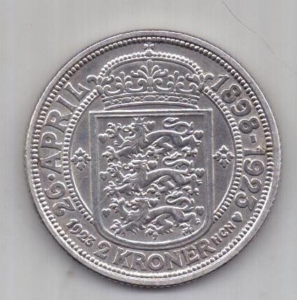 2 кроны 1923 г. AUNC. Дания