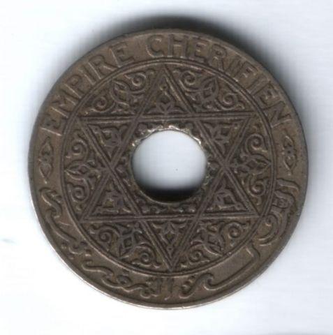 25 сантимов 1921 г. Марокко