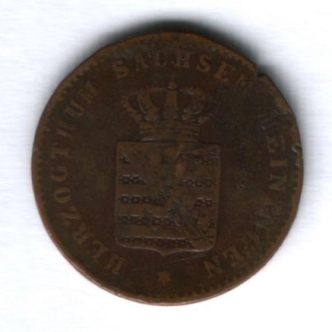 2 пфеннига 1867 г. Саксен-Мейнинген, Саксония