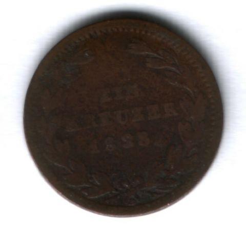 1 крейцер 1828 г. Баден