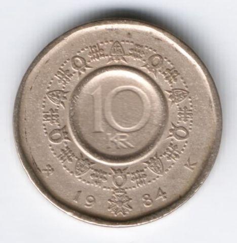 10 крон 1984 г. Норвегия