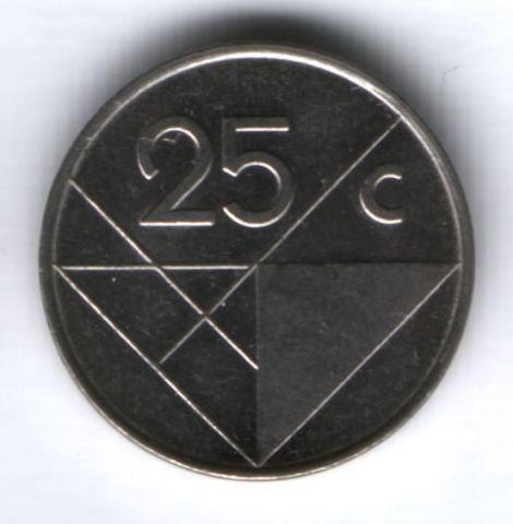 25 центов 2003 г. Аруба