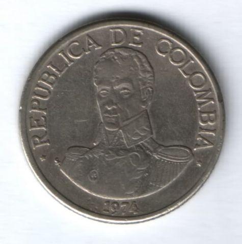 1 песо 1974 г. Колумбия