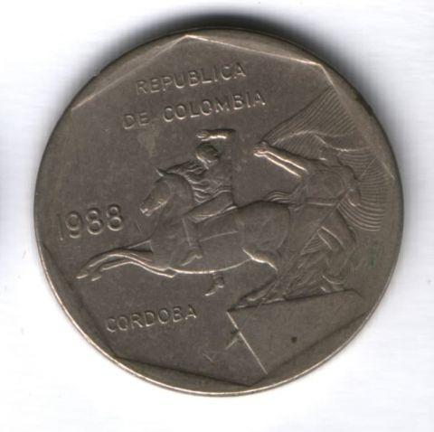 10 песо 1988 г. Колумбия