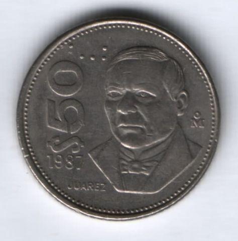 50 песо 1987 г. Мексика