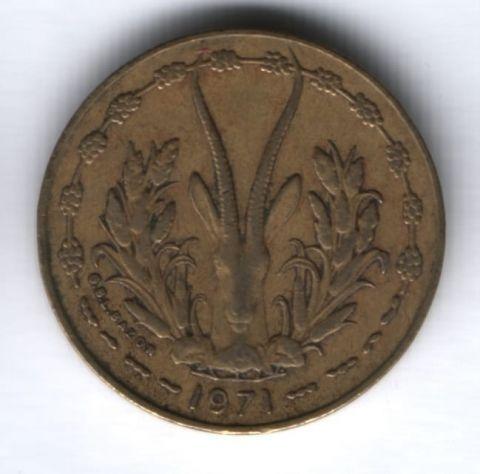 10 франков 1971 г. Западные Африканские Штаты