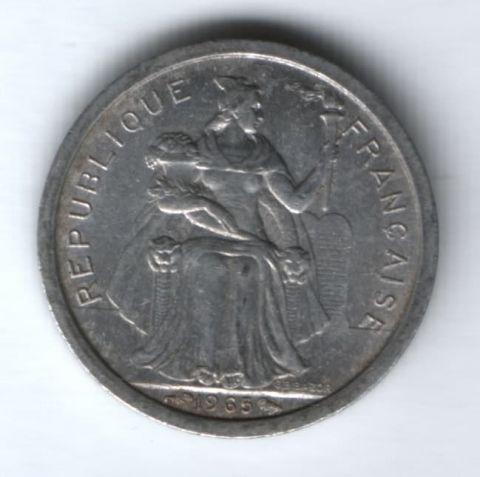 1 франк 1965 г. Французская Полинезия