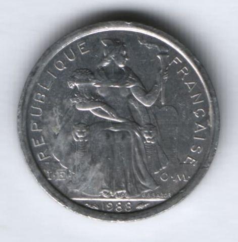 1 франк 1988 г. Новая Каледония