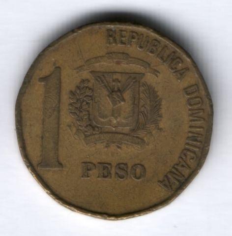 1 песо 1992 г. Доминиканская республика