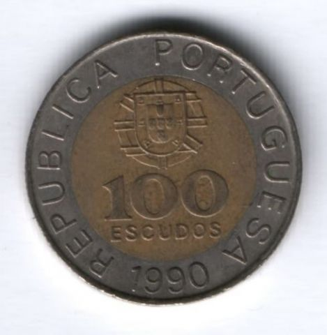 100 эскудо 1990 г. Португалия
