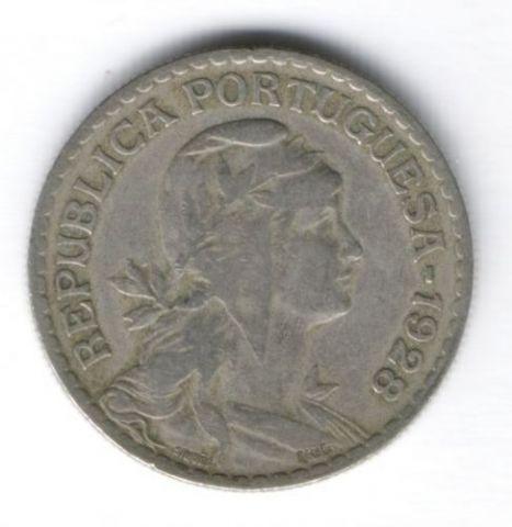1 эскудо 1928 г. редкий год Португалия