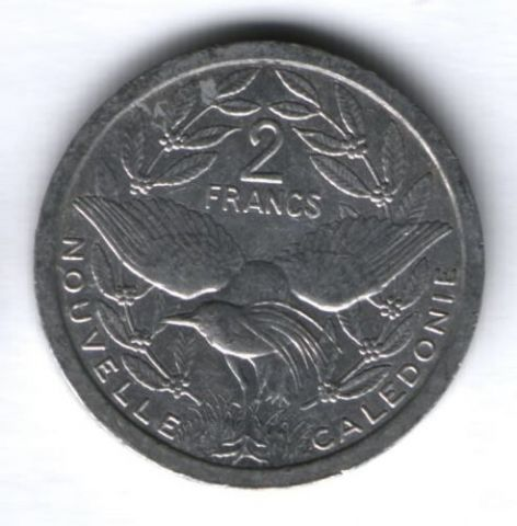 2 франка 1983 г. Новая Каледония