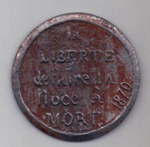 медаль 1870 г. Франция