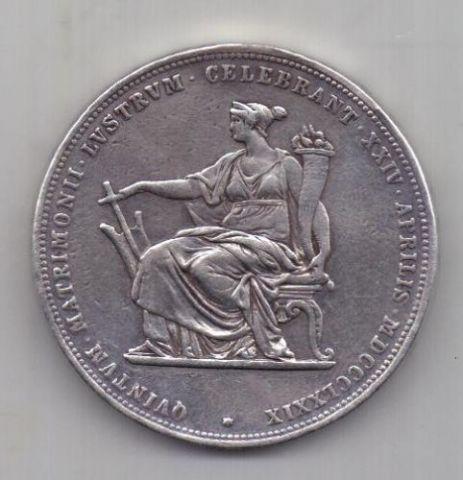 2 гульдена 1879 г. Австрия.