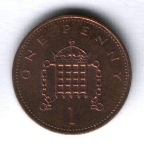 1 пенни 1984 г. Великобритания