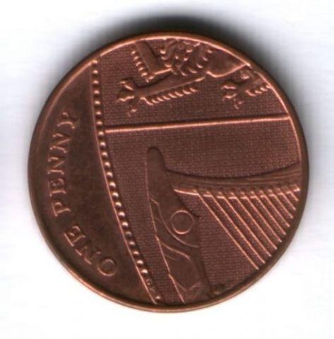 1 пенни 2010 г. Великобритания