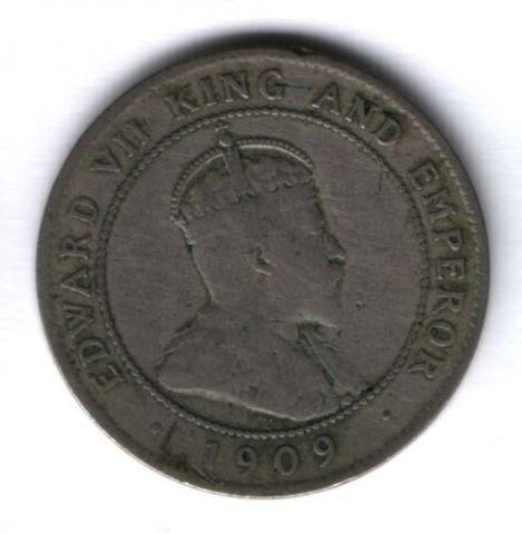 1 пенни 1909 г. Ямайка