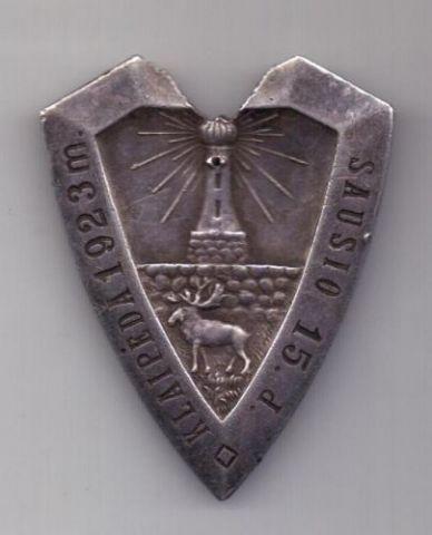 медаль 1923 г. Освобождение г. Клайпеды - 1 класса. Литва