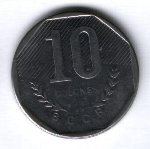 10 колонов 1985 г. Коста-Рика