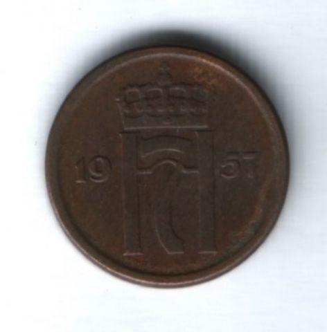 1 эре 1957 г. Норвегия