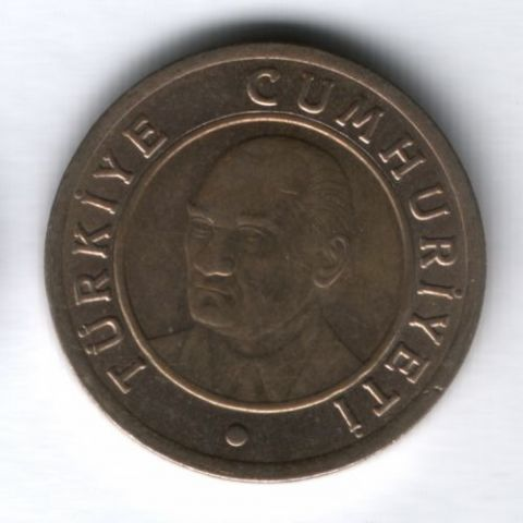1 лира 2008 г. Турция
