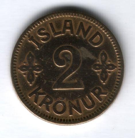 2 кроны 1925 г. Исландия
