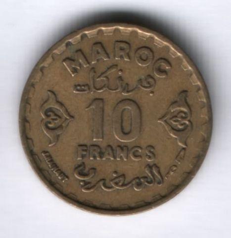 10 франков 1952 (1371) г. Марокко