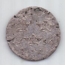 1 оре (эре) 1754 г. Швеция