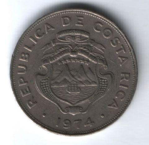 1 колон 1974 г. Коста-Рика