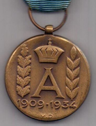медаль 1934 г. AUNC Бельгия