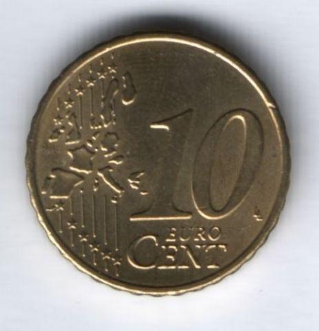 10 евроцентов 2002 г. D Германия, AUNC