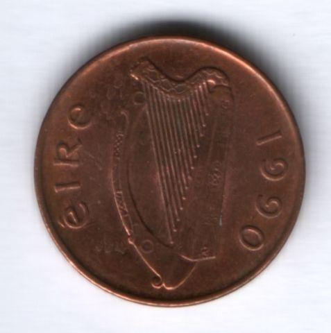 1 пенни 1990 г. Ирландия