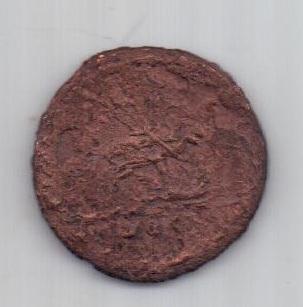 1 копейка 1728 г. Петр II