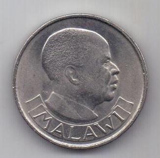 1 шиллинг 1964 г. AUNC. Малави