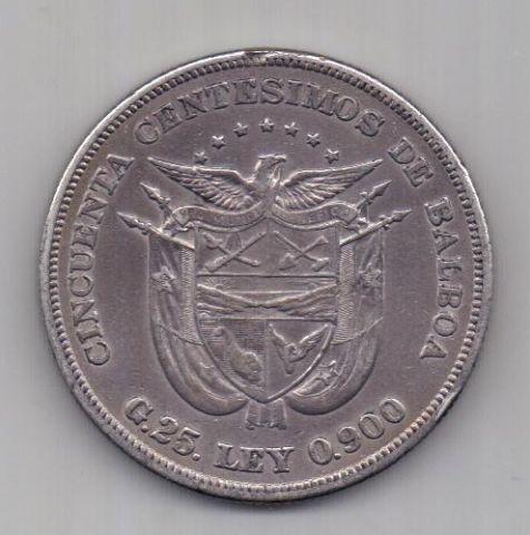 50 сантимов 1904 г. AUNC. Панама