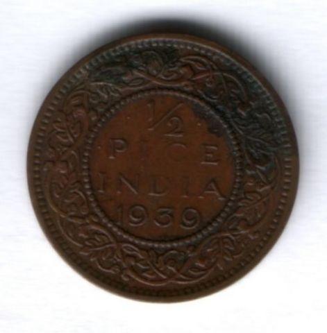 1/2 пайса 1939 г. Индия