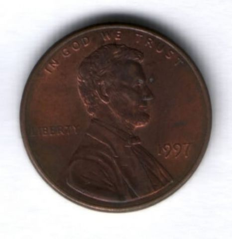 1 цент 1997 г. США