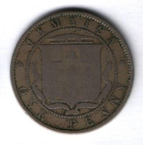 1 пенни 1893 г. Ямайка