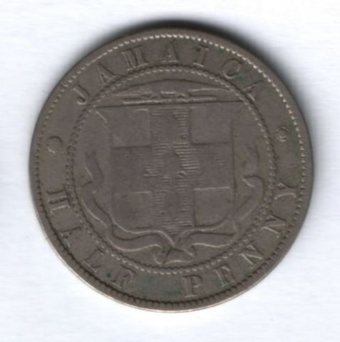 1/2 пенни 1871 г. Ямайка