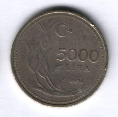 5000 лир 1994 г. Турция