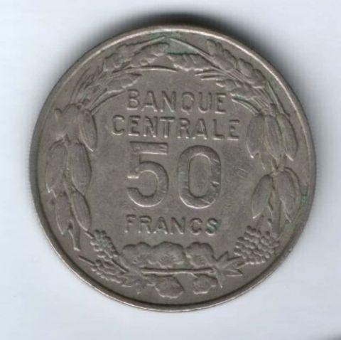 50 франков 1960 г. Камерун