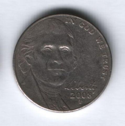 5 центов 2008 г. США