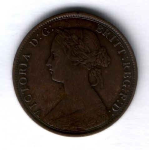 1 цент 1861 г. Новая Шотландия, XF